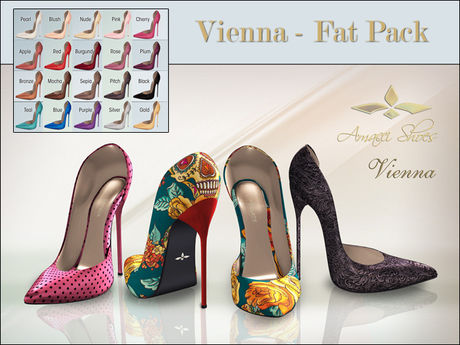 Amacci Shoes - Vienna - Fat Pack (Maitreya, Slink, Belleza)