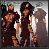 "Woman urban dress "" Neith Red "" all incl.  + boots fighter dress NEKO dress Gothic outfit urban Vamp vampire vampiro emo"