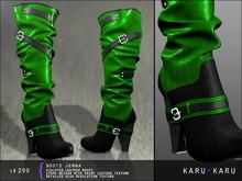 KARU KARU - Leather Boots Jenna (GREEN)