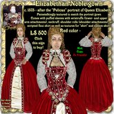 "Wunderlich's Elizabethan ""Pelican"" gown, Red color"