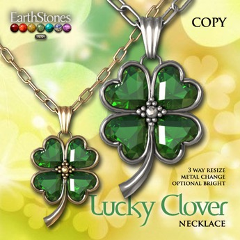 EarthStones Lucky Clover Necklace