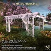 :: N :: Mission Pergola, White Painted Oak