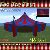 Big Top Tent 80x80 - Red & Blue - COPY - Circus Tents