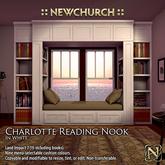 :: N :: Charlotte Reading Nook, White