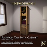 :: N :: Flatiron Tall Bath Cabinet, Antique Pine
