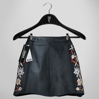 Emery Susan Embroidered Skirt Petro