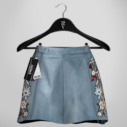 Emery Susan Embroidered Skirt Sky