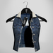 Emery Cupid Denim Vest Dark Blue