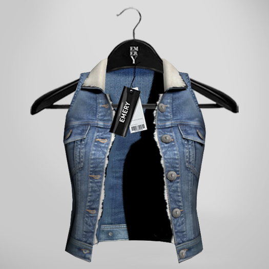 Emery Cupid Denim Vest Mid Blue