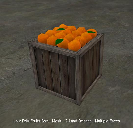 Low Poly Fruits Box FULLPERM - 2 Land Impact