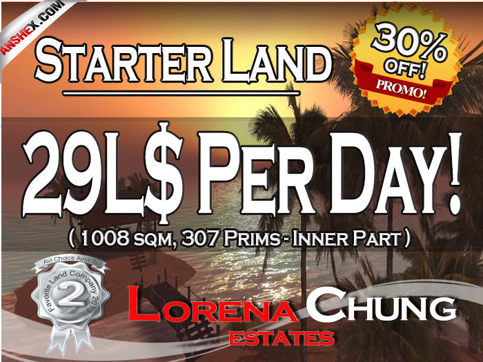 Starter Land with Full Land rights 29L$ a day only!**