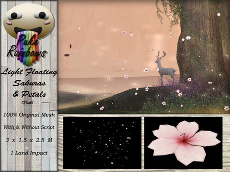 [PR] Light Floating Sakuras & Petals - Pink (Boxed)