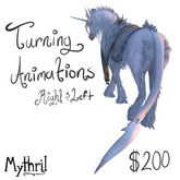 ~Mythril~ Teegle Animations: Turning animations