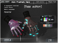 A.W.A. Prosthetic Hands (Male edition) -Shu Mesh-