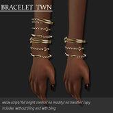 BRACELET TWN GOLD         -RYCA-