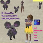 Mr. Mousie Man Toy doll giver (top pac)