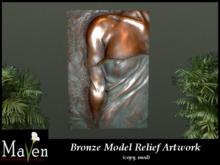 Solid Bronze Model Relief Wall Art