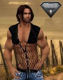 XK Western Sleeveless Net Shirt Black