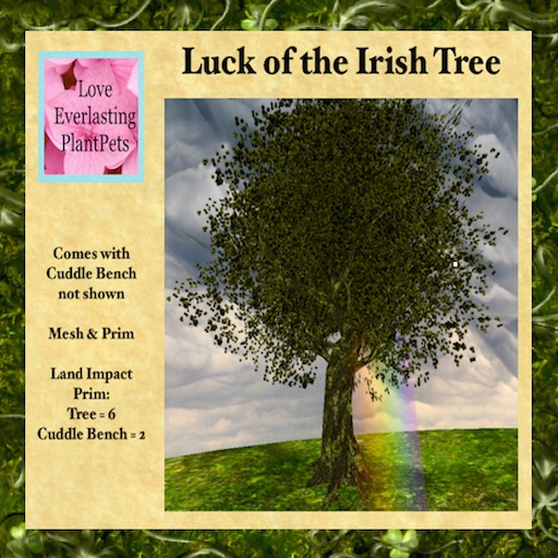 LEP ~ Luck of the Irish Tree & Cuddle Bench