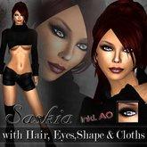 *SPECIAL SALE* Saskia Skin & Shape Promo (2 Skins, Shape, Eye, Lashes, Hair, Cloths & AO