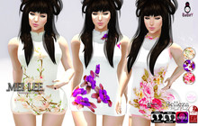 BABEY l MEI LEE CHEONGSAM - WHITE SET [ wear to unpack]
