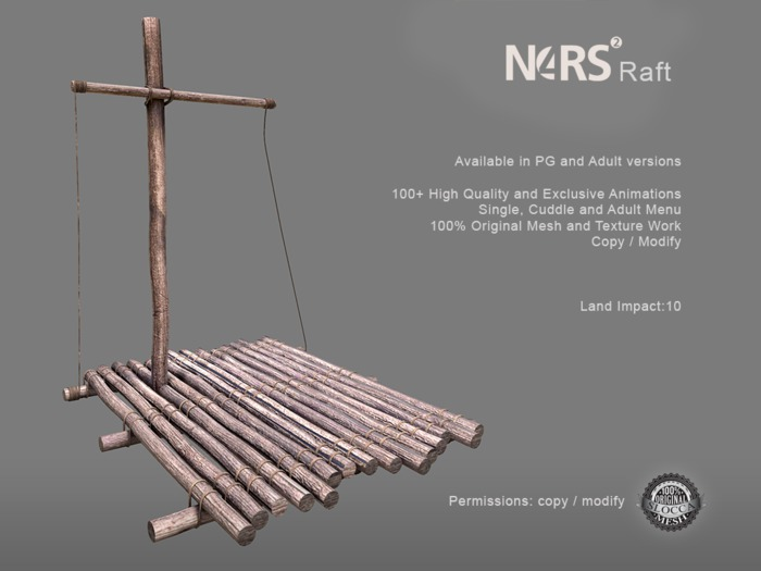 N4RS Raft PG - Adult Furniture - Mesh Raft with High Quality Animations