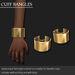 Cuff bangle plated gold