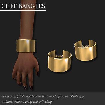 CUFF BANGLE PLATED GOLD       -RYCA-