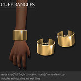 CUFF BANGLE PLATED GOLD       -RYCA-