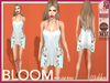 [Wishbox] Bloom Slip Dress (Blue) - Mesh, Fitmesh, Maitreya, SLink Hourglass Physique, Standard Sizes, Floral Tunic