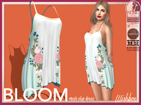 [Wishbox] Bloom Slip Dress (Pale Green) - Maitreya SLink Physique Hourglass Fitmesh Standard Sizes Mesh Spring Tunic