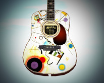 'Kandinsky' Similar to Martin D45 Guitar (Dreadnought) // Scripted, Mocap Animated, Riffs, Record or Load Songs, Stool