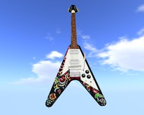 Similar to Jimi Hendrix Psychedelic Flying V   // Scripted, Mocap Animated, Riffs, Record or Load Songs, Stool