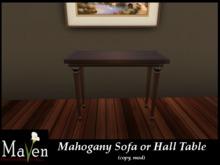 Mahogany Sofa/Hall Table Box