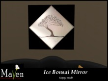 Ice Bonsai Solid Glass Modern Wall Art