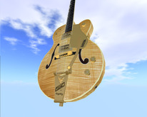 Similar to Gretsch 6120AM Chet Atkins* Flame Maple // Scripted, Mocap Animated, Riffs, Record or Load Songs, Stool