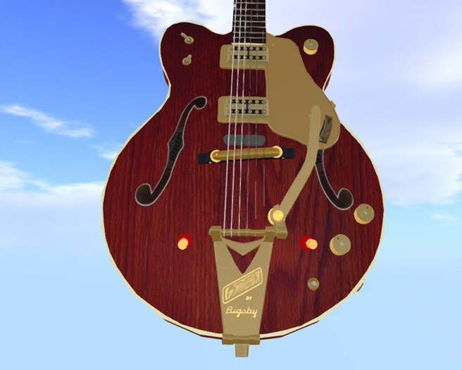 Similar to Gretsch 6122 1962 Country Gentleman // Scripted, Mocap Animated, Riffs, Record or Load Songs, Stool