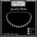 Beloved Jewelry : Jeweled Choker (Light Blue Diamond) Necklace