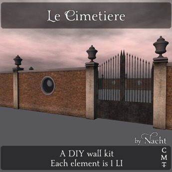 *~ by Nacht ~ Le Cimetiere Wall Kit  (Wear to unpack)