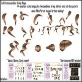 *!RaveNation!* 70 Piece Full Permission Hair Sculpt Maps!