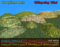 21strom Grassy Hillocks - All Seasons - 6 shapes + terain textures