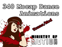 ALL 340 Mocap Dance Animations from the Ministry of Motion TRANS/MOD