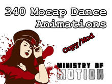 ALL 340 Mocap Dance Animations from the Ministry of Motion COPY/MOD