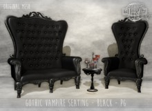 -DRD- Gothic Vampire Seating - Black - PG