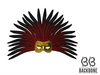BackBone Feather Mask - Ruby