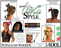 -Powhatan Warrior- A Wylde Style by Khyle Sion at ~Refined Wild~