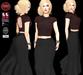 M&M-SILVIA DRESS BLACK-MAR17