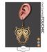 Touchic owl earring mp