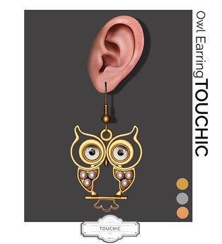 TOUCHIC OWL EARRINGS FATPACK