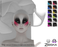 Zibska ~ Ting Deux Makeup in 12 colors with Lelutka Bento applier, Omega applier and system tattoo layers